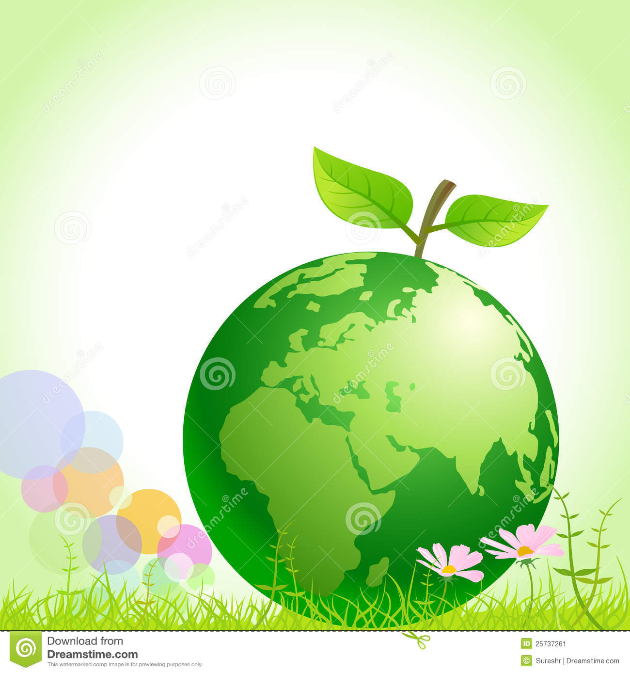 green earth save environment stock vector illustration of