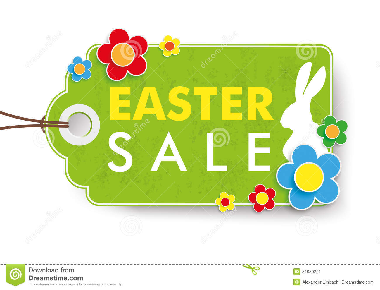 Green Easter Sale Price Sticker Stock Vector Image 51959231