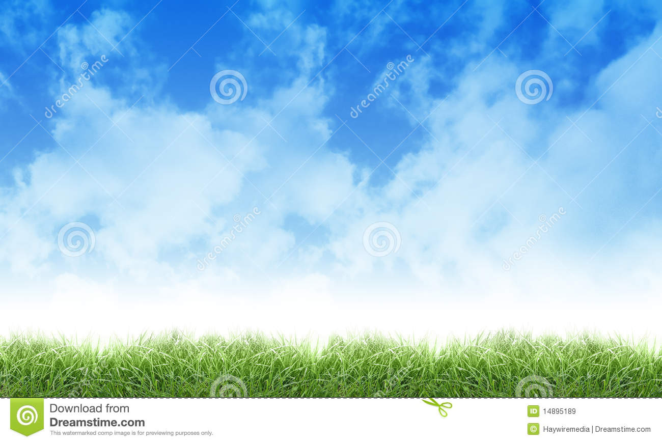 green eco nature sky clouds and grass royalty free stock