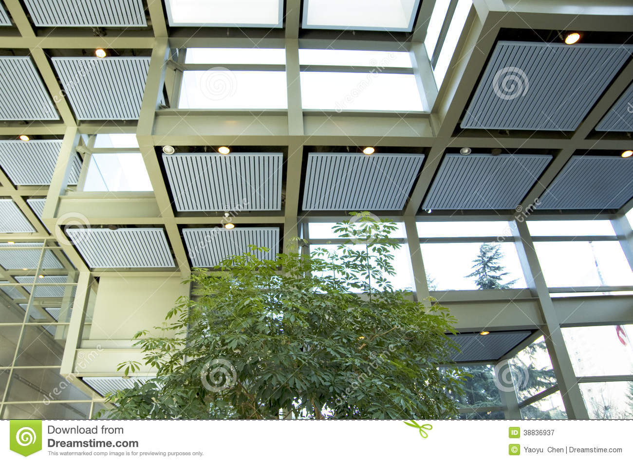 green eco office building interiors natural light. Green Eco Office Building Interiors Natural Light Stock Image - Of Green, Lighting: 38836937