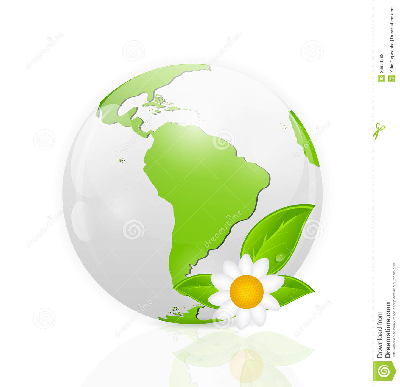 Green Eco Planet Concept Vector Illustration Royalty Free