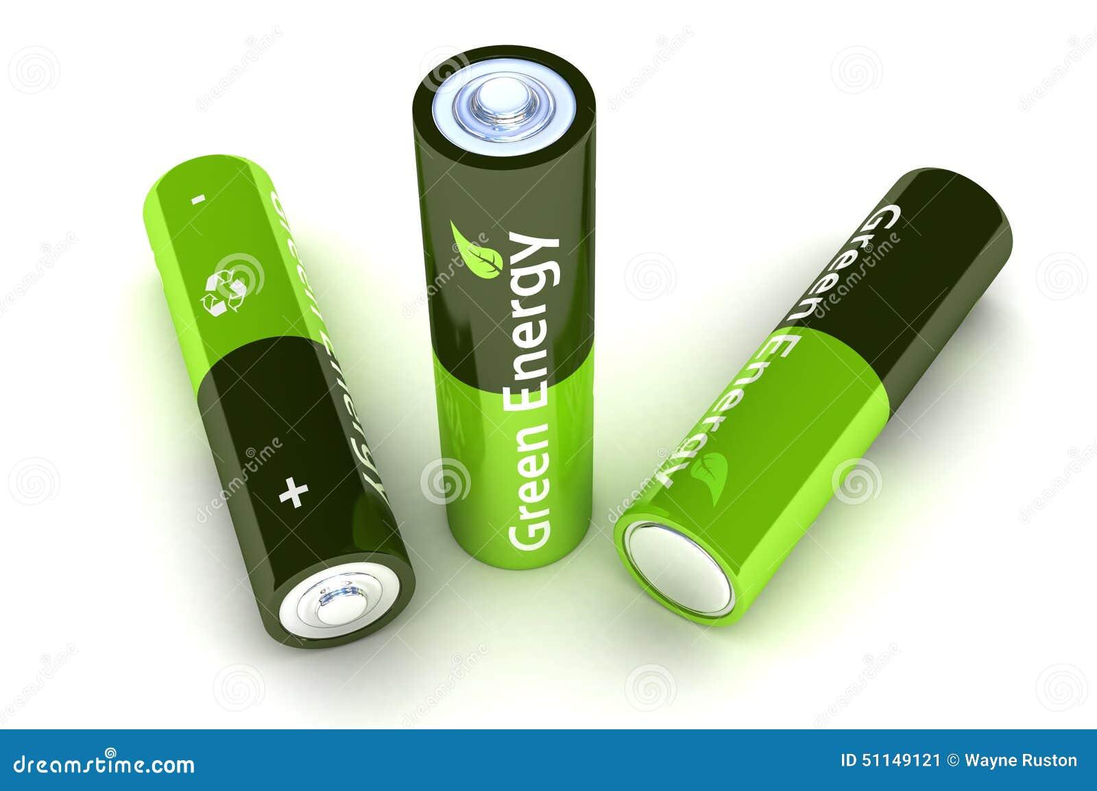 green eco power batteries stock illustration image 51149121. Black Bedroom Furniture Sets. Home Design Ideas