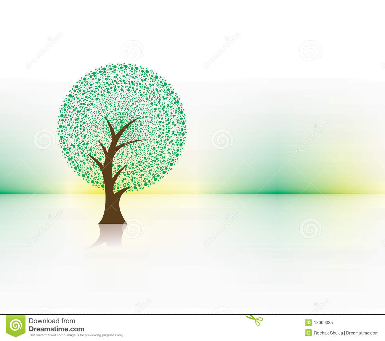 Green Eco Tree Stock Vector. Illustration Of Life