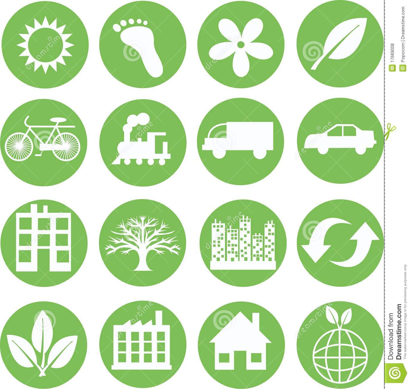 Green Ecology Icons Royalty Free Stock Photos - Image ...