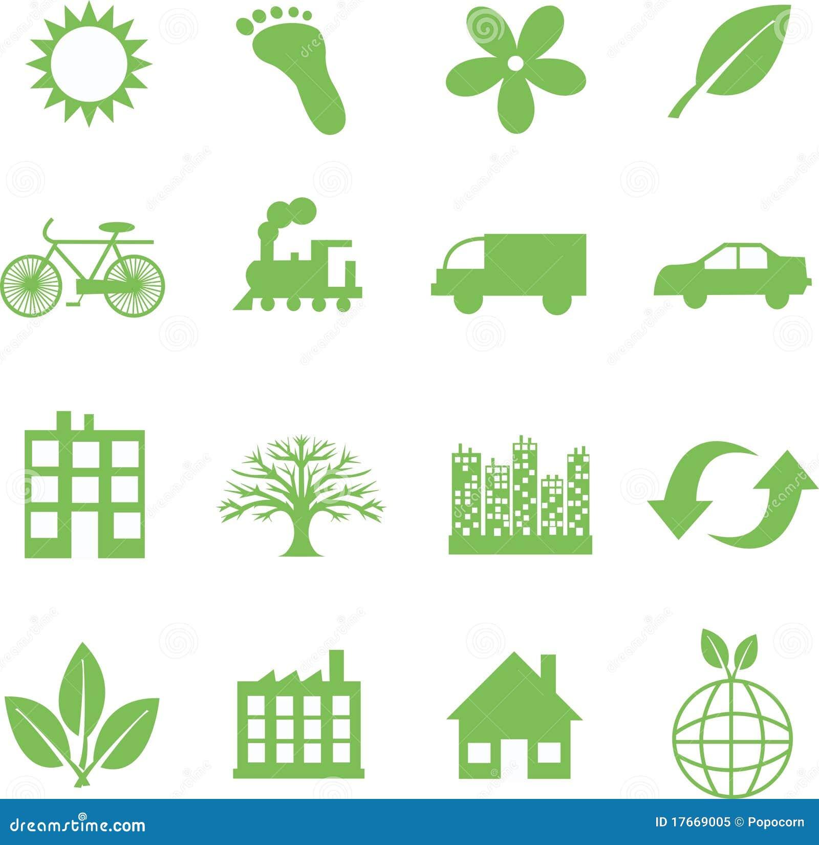 Green Ecology Symbols Royalty Free Stock Photo Image