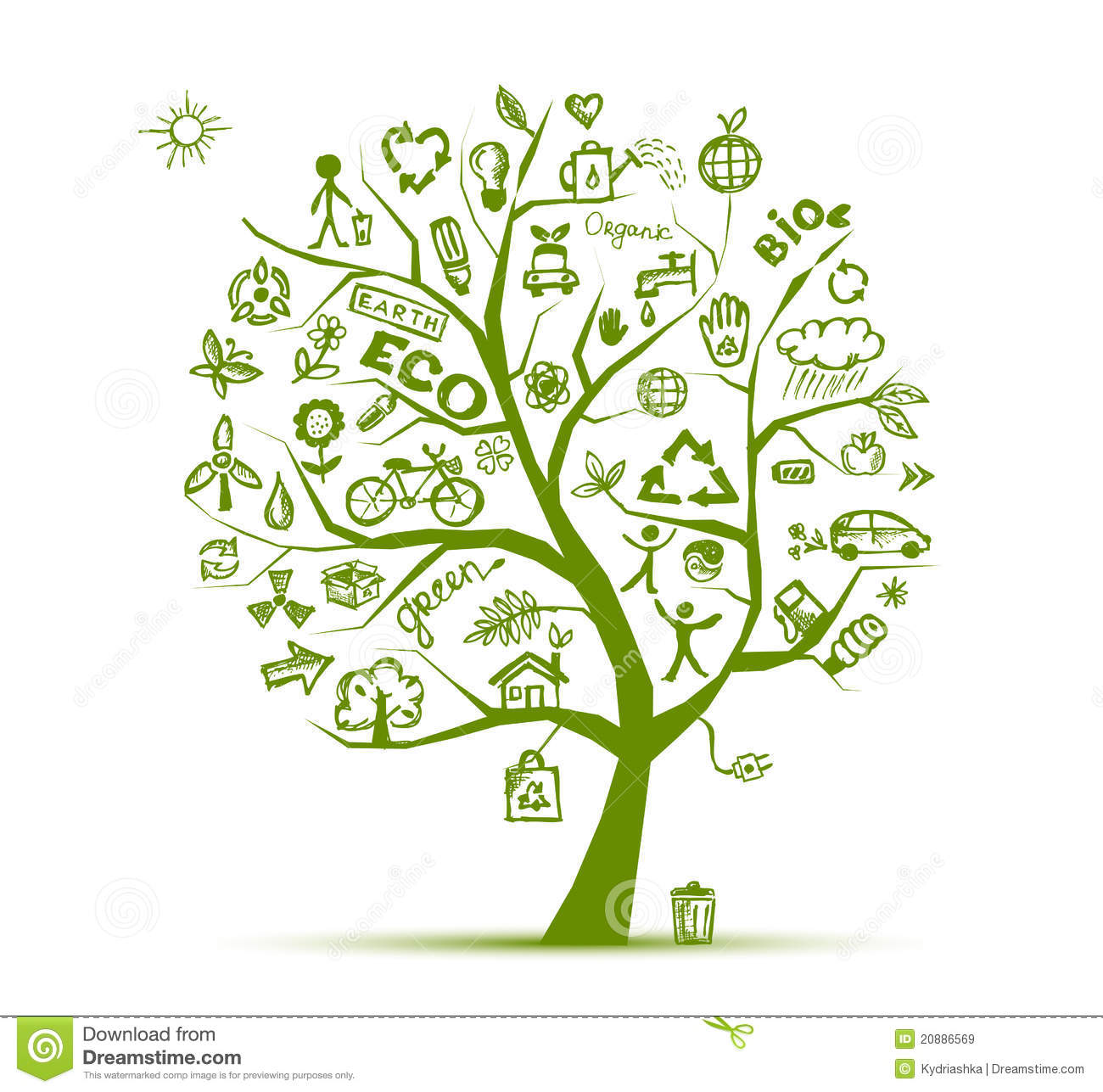 Green Ecology Tree Concept For Your Design Stock Vector