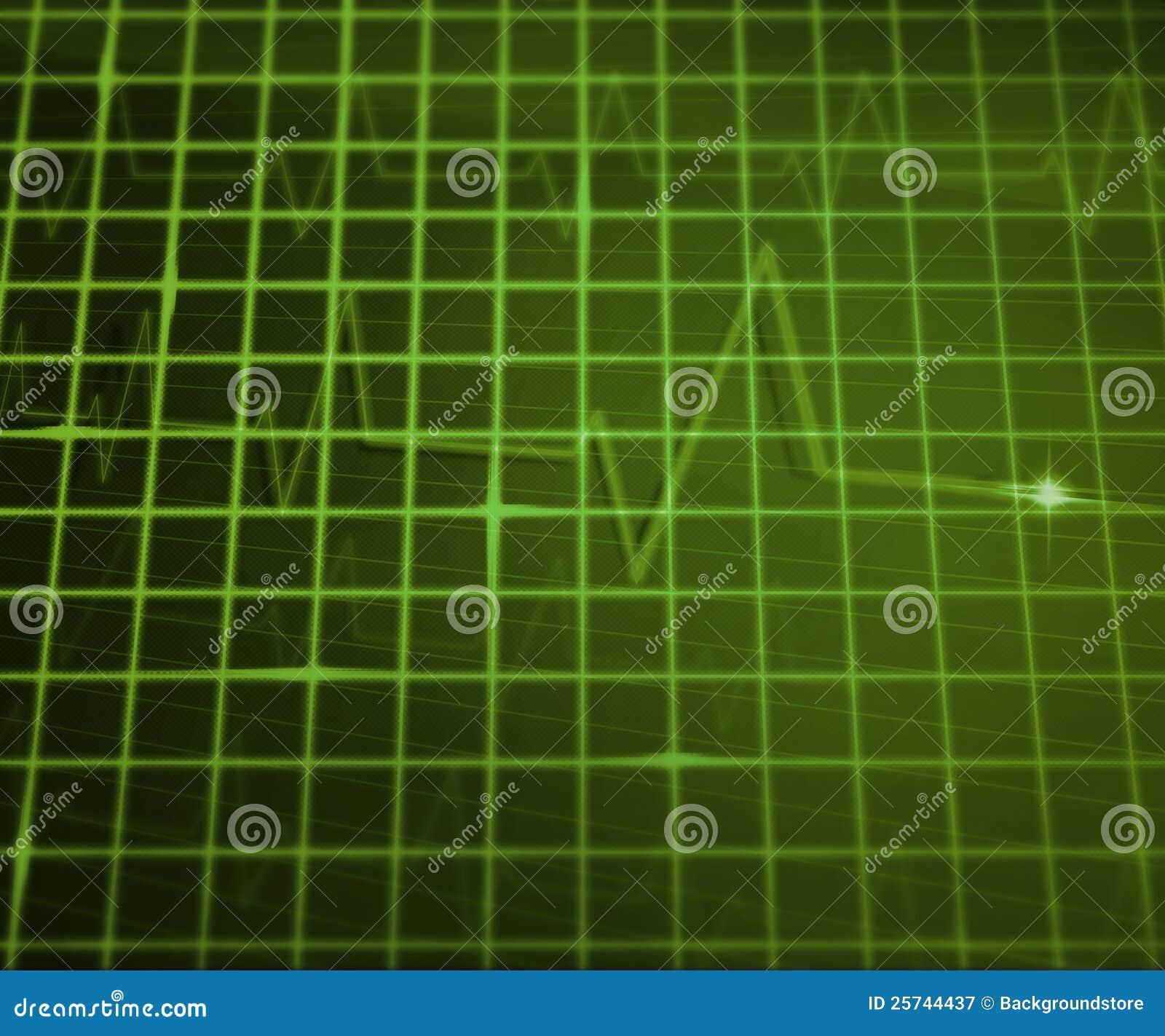 Green EKG Medical Background