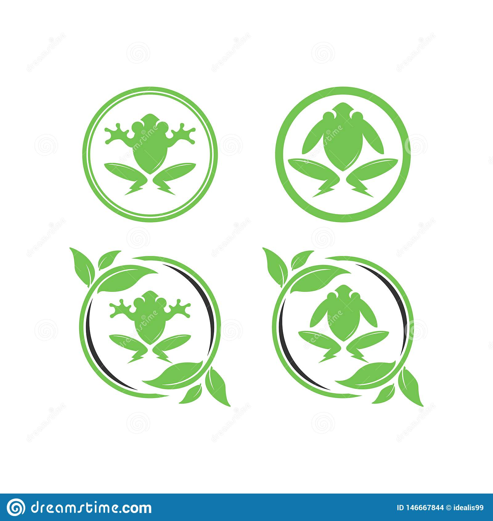 Green electric frog design