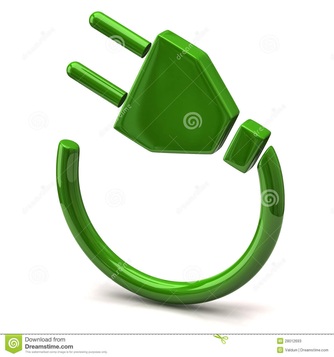 Stock Photos Green Electric Plug Icon Image28012693 on electrical cord