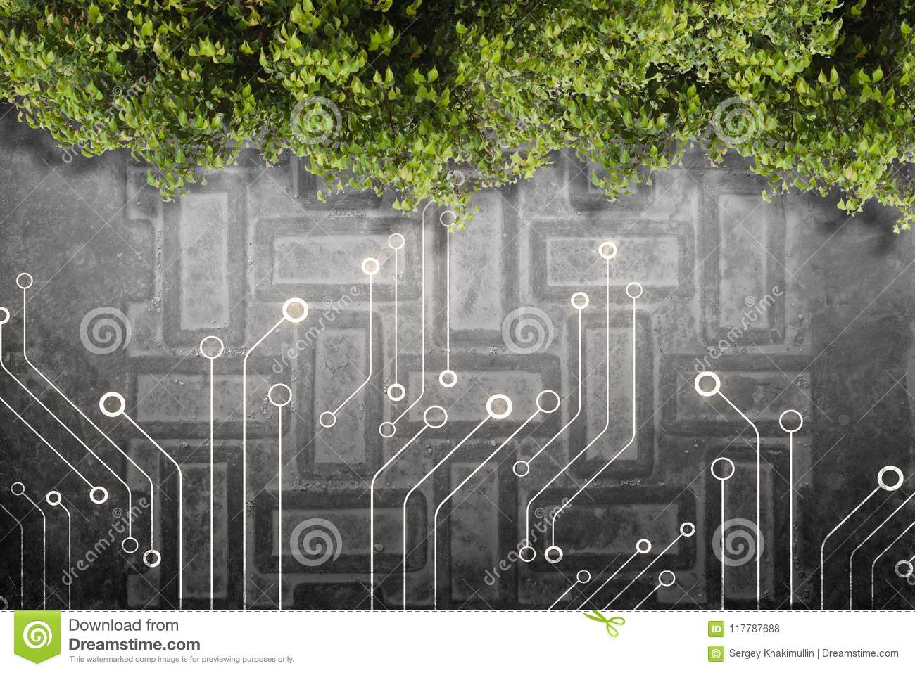 Green electric technology stock photo. Image of connection - 117787688