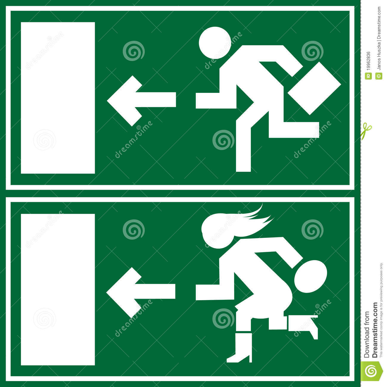 Green emergency exit sign icon and symbol stock vector green emergency exit sign icon and symbol buycottarizona Images
