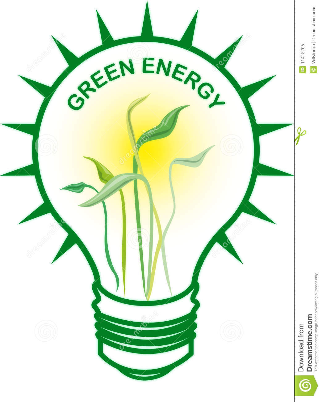 Green Energy Bulb Royalty Free Stock Photo - Image: 11418705
