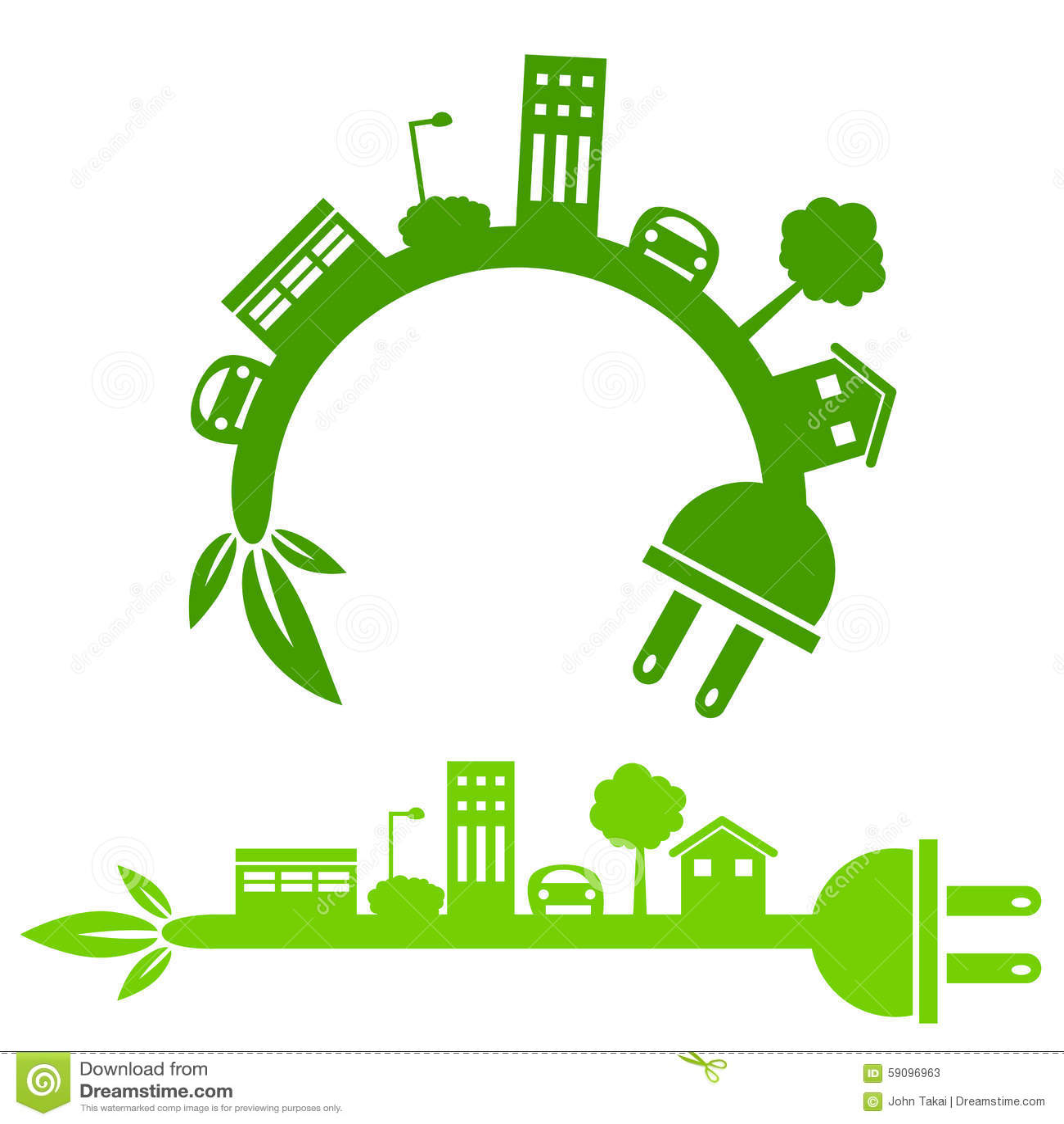 green energy city banner stock vector illustration of