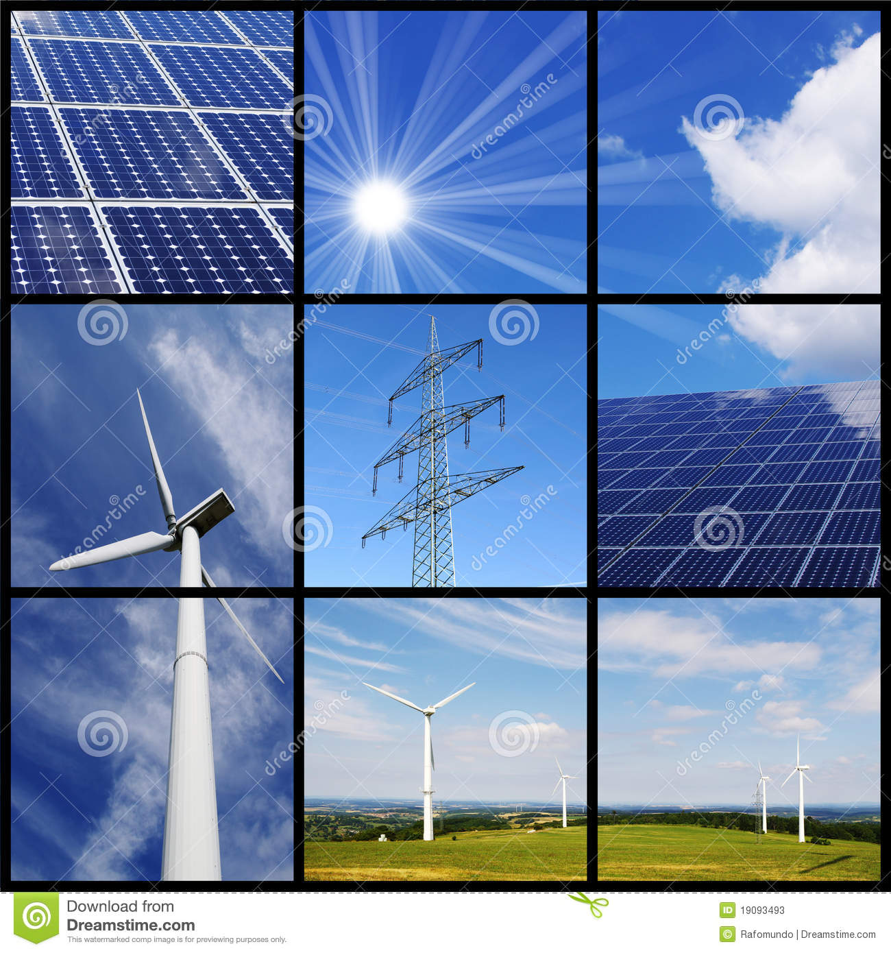 Green Energy Collage Stock Image Image Of Choice Photovoltaic 19093493