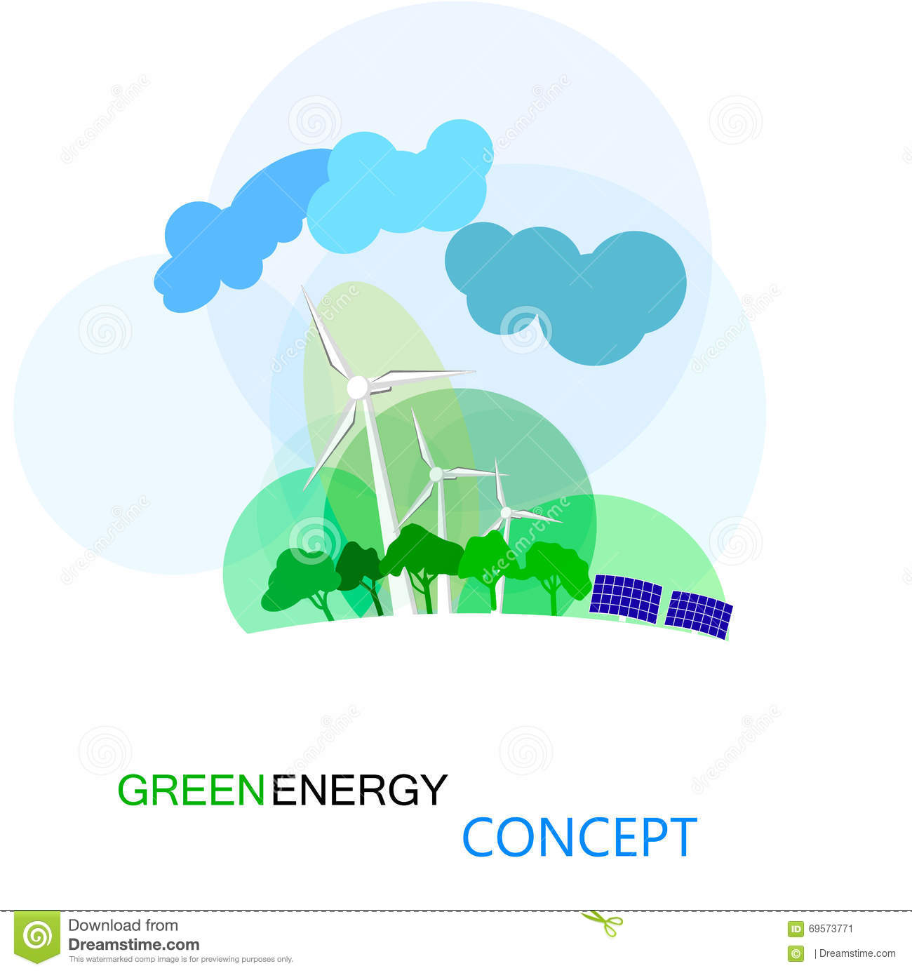 Green energy concept ecologycal future of earth wind turbines green energy concept ecologycal future of earth wind turbines ccuart Choice Image