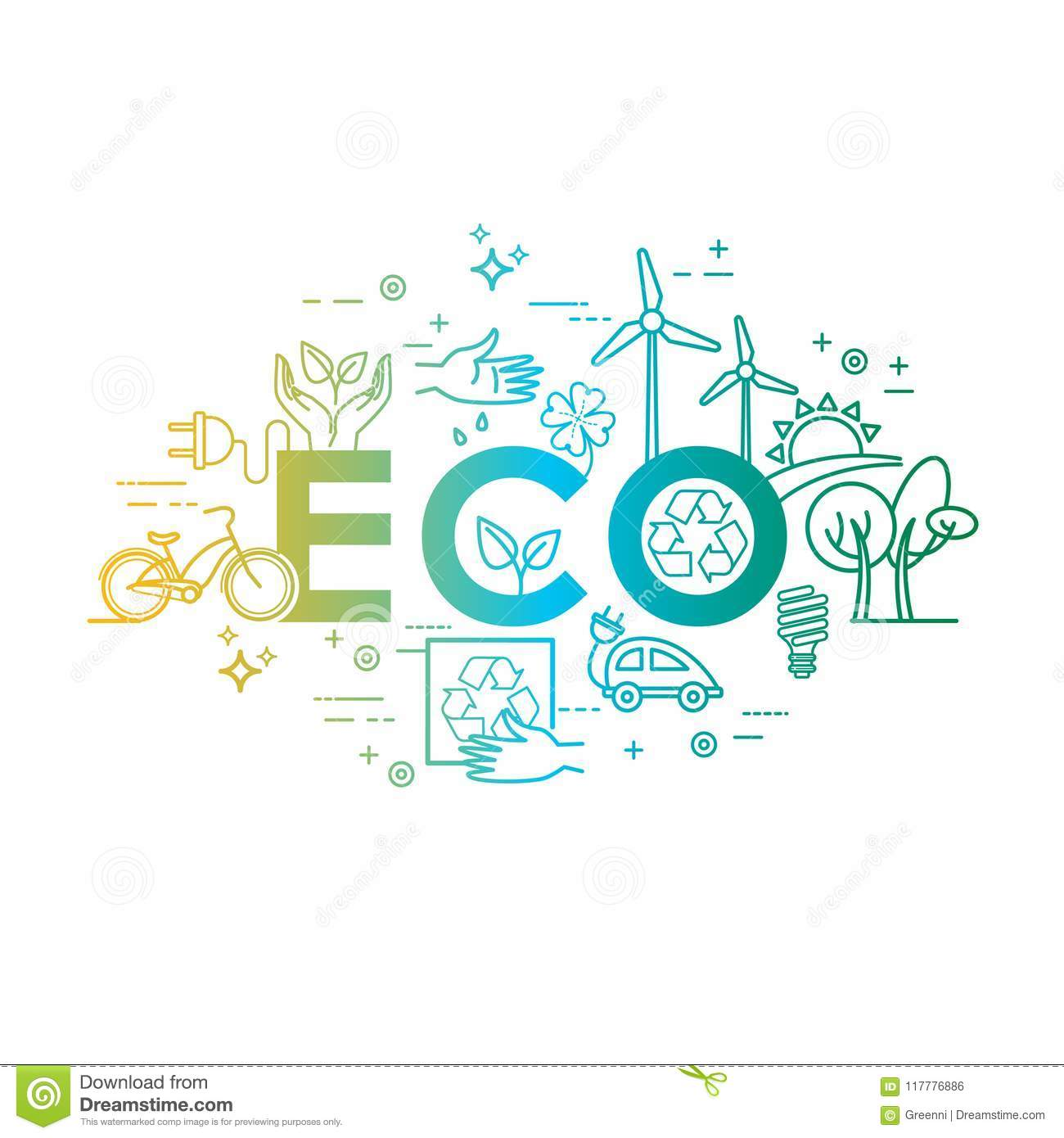 green energy eco lifestyle recycle vector design template in