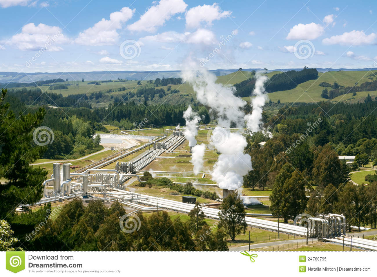 Green Energy - Geothermal Power Station Royalty Free Stock Photo ...
