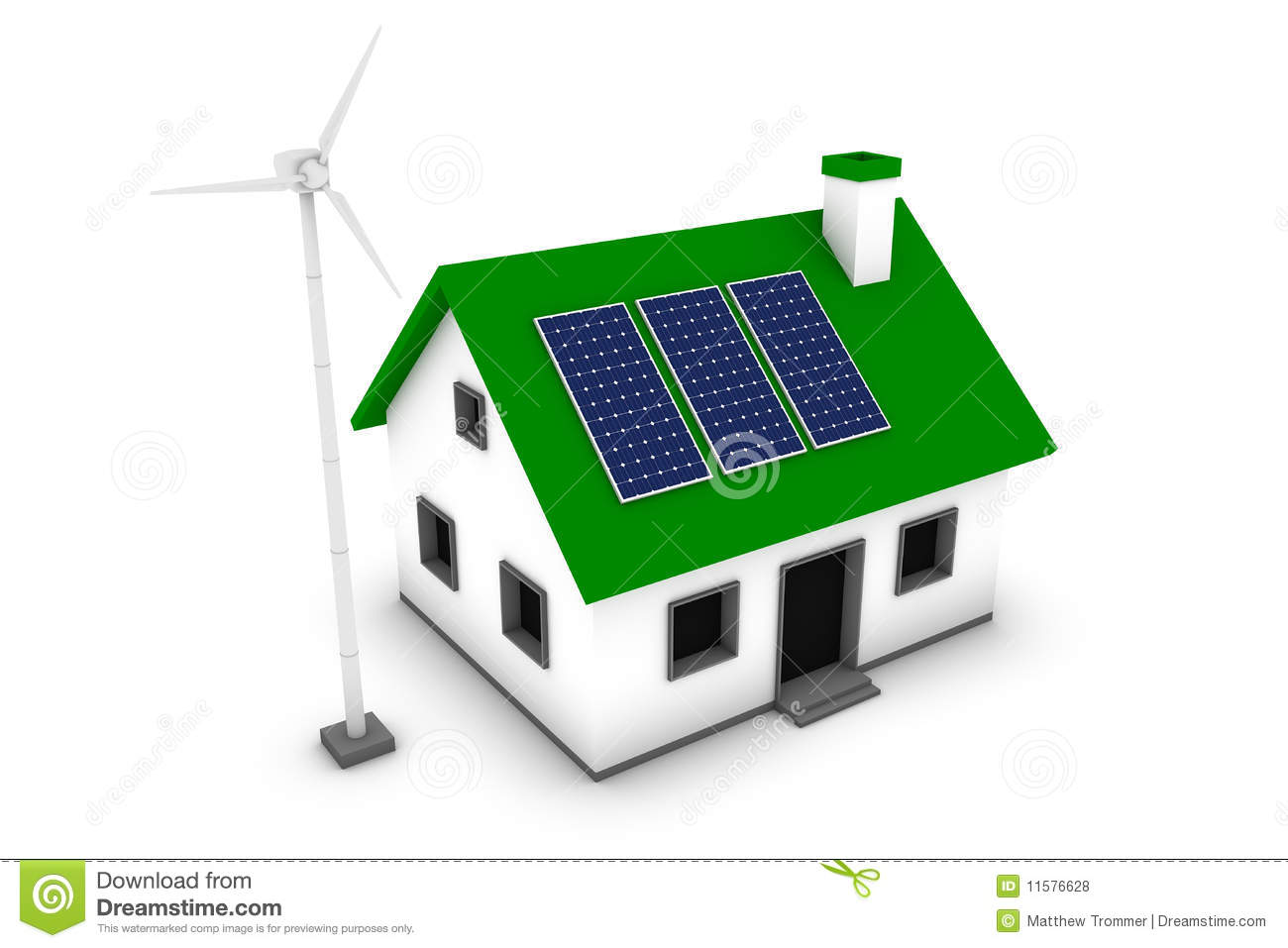 Green Energy House Stock Illustration Image Of Panel