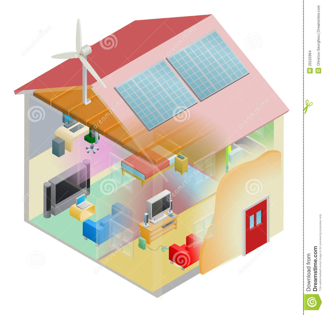 Green energy house stock vector image of efficient for Energy house