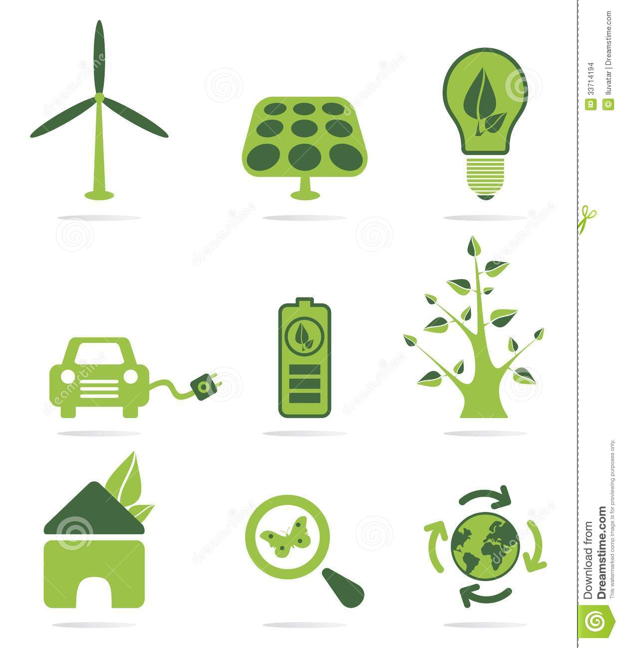 Green Energy Icon Set Stock Images - Image: 33714194