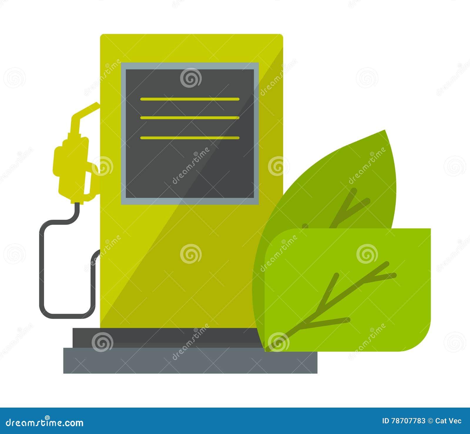 Green Energy Icon Vector Illustration Stock Oil Power Plant Diagram Ecology Industrial Petroleum Concept Nature Symbol Production Pollution Liquid