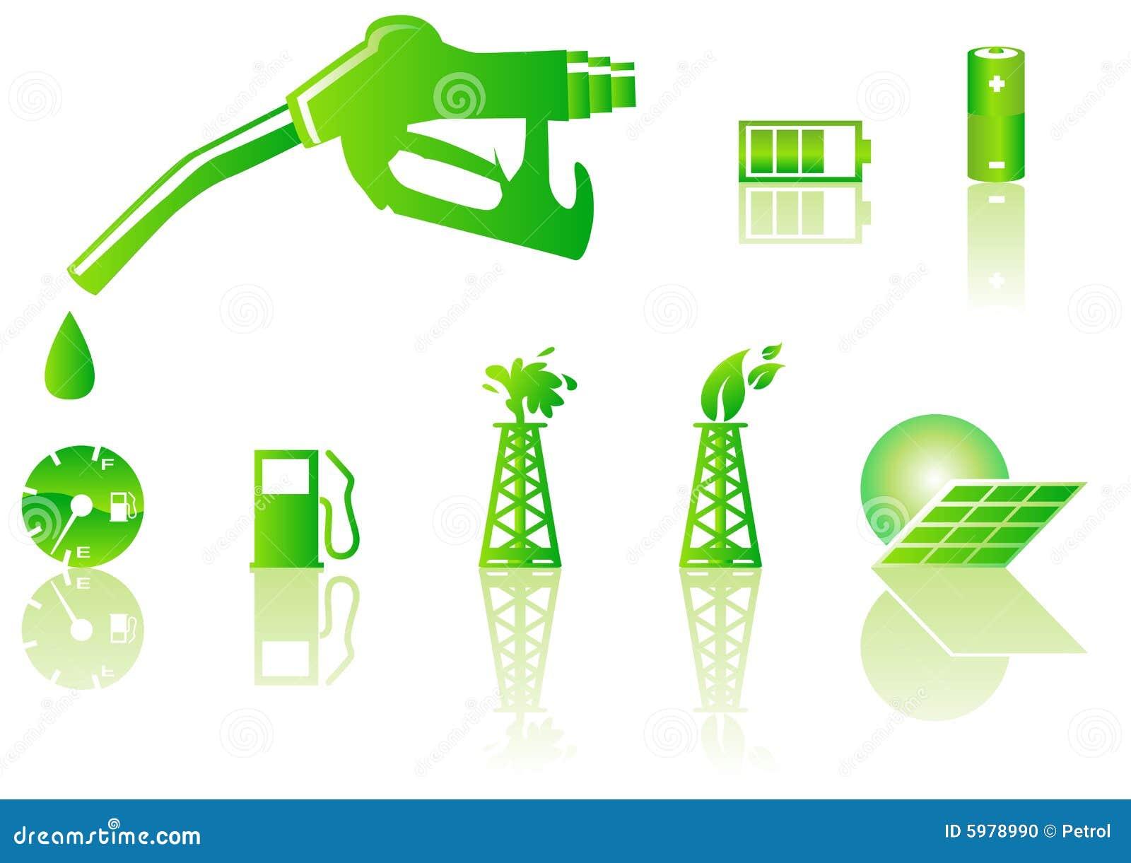 Green Energy Icons Stock Photo - Image: 5978990