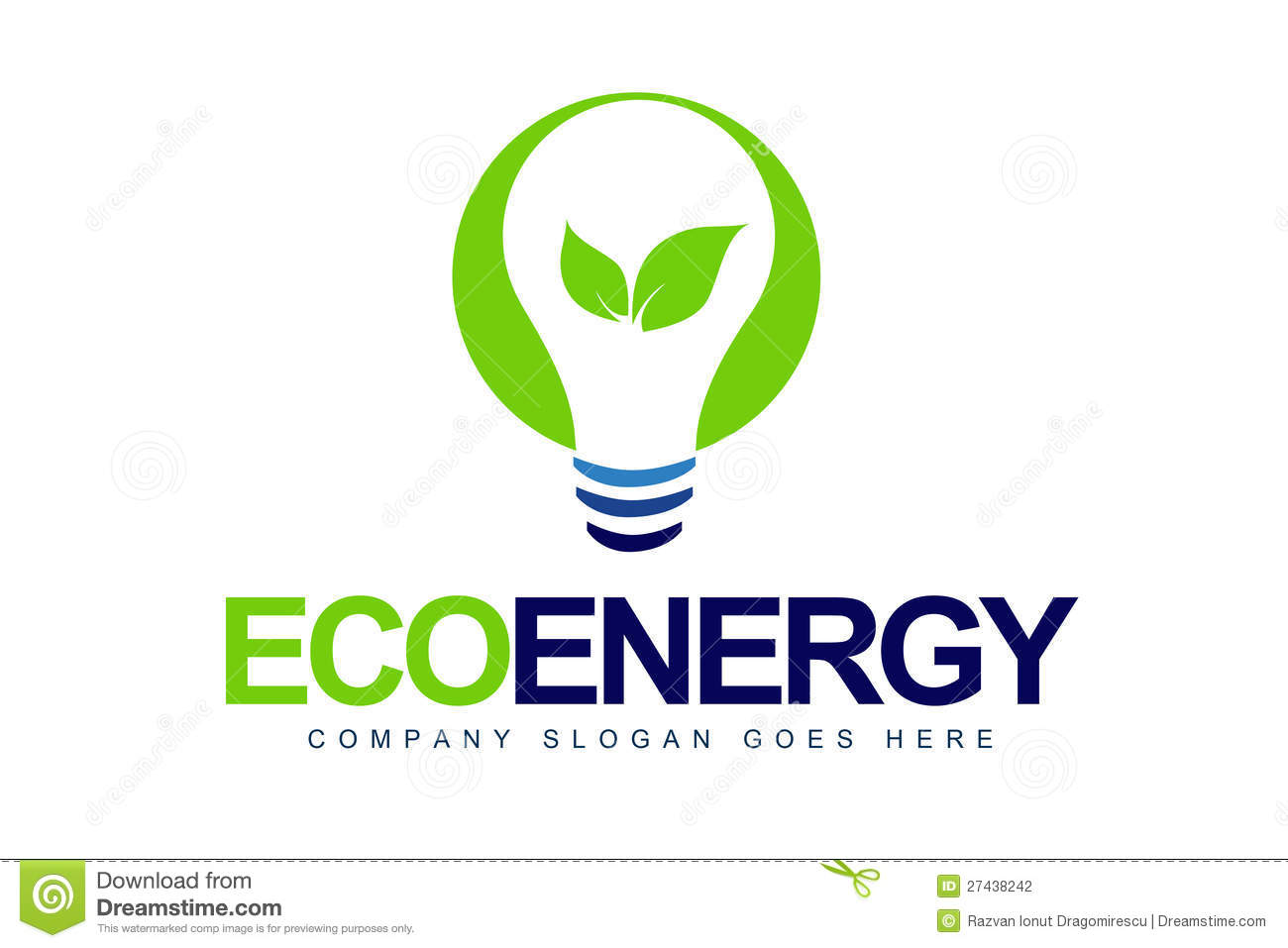 An illustration of a logo representing green energy concept.
