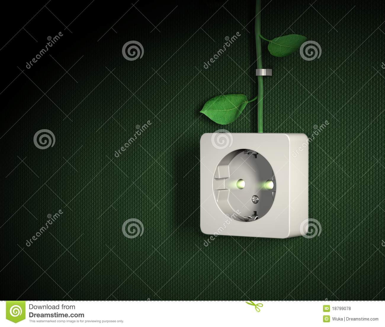 Green energy power outlet concept