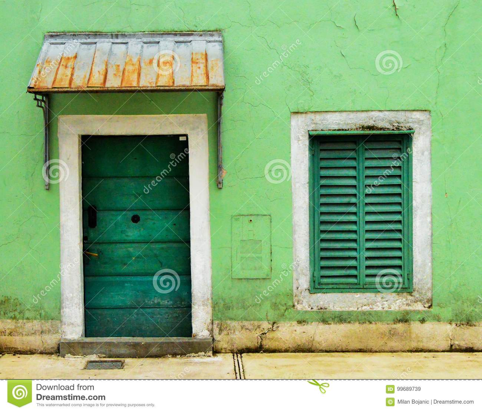 Doors And Window Symmetry Stock Image Image Of Outside 99689739