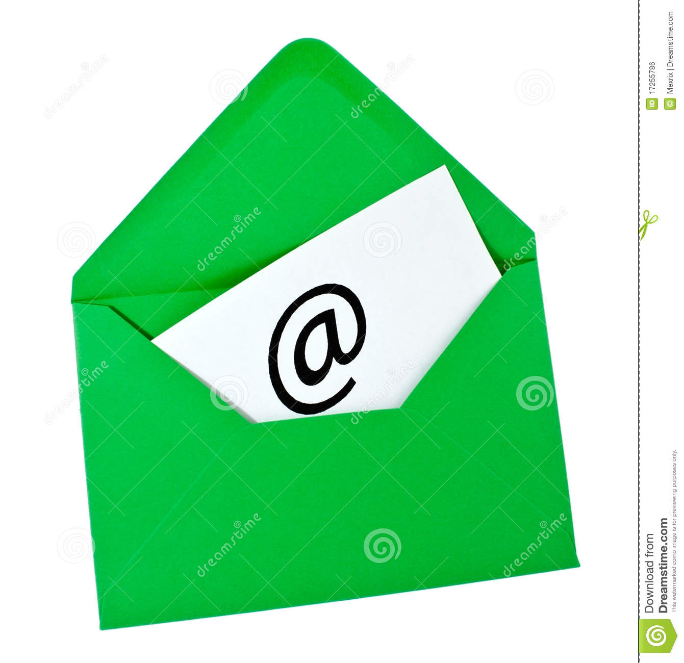 Italian handwritten postcard letter stock photo image 39254147 - Green Envelope With Email Symbol Royalty Free Stock Image Image