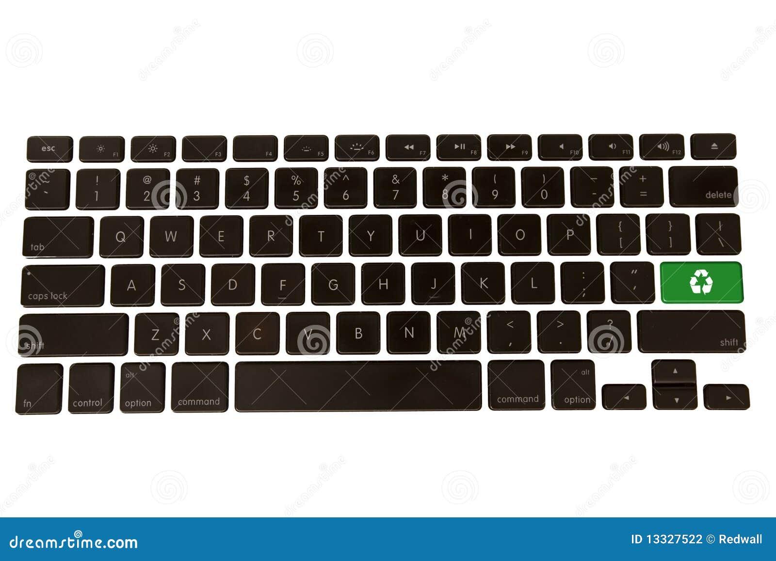 Green Environment Symbol On Keyboard Stock Photo Image Of