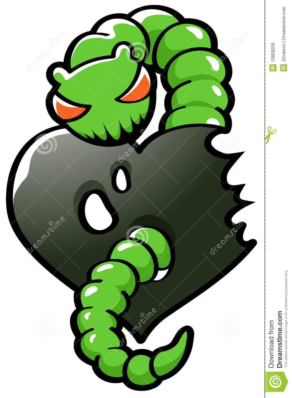 Green Envy Worm Royalty Free Stock Image Image 10858256