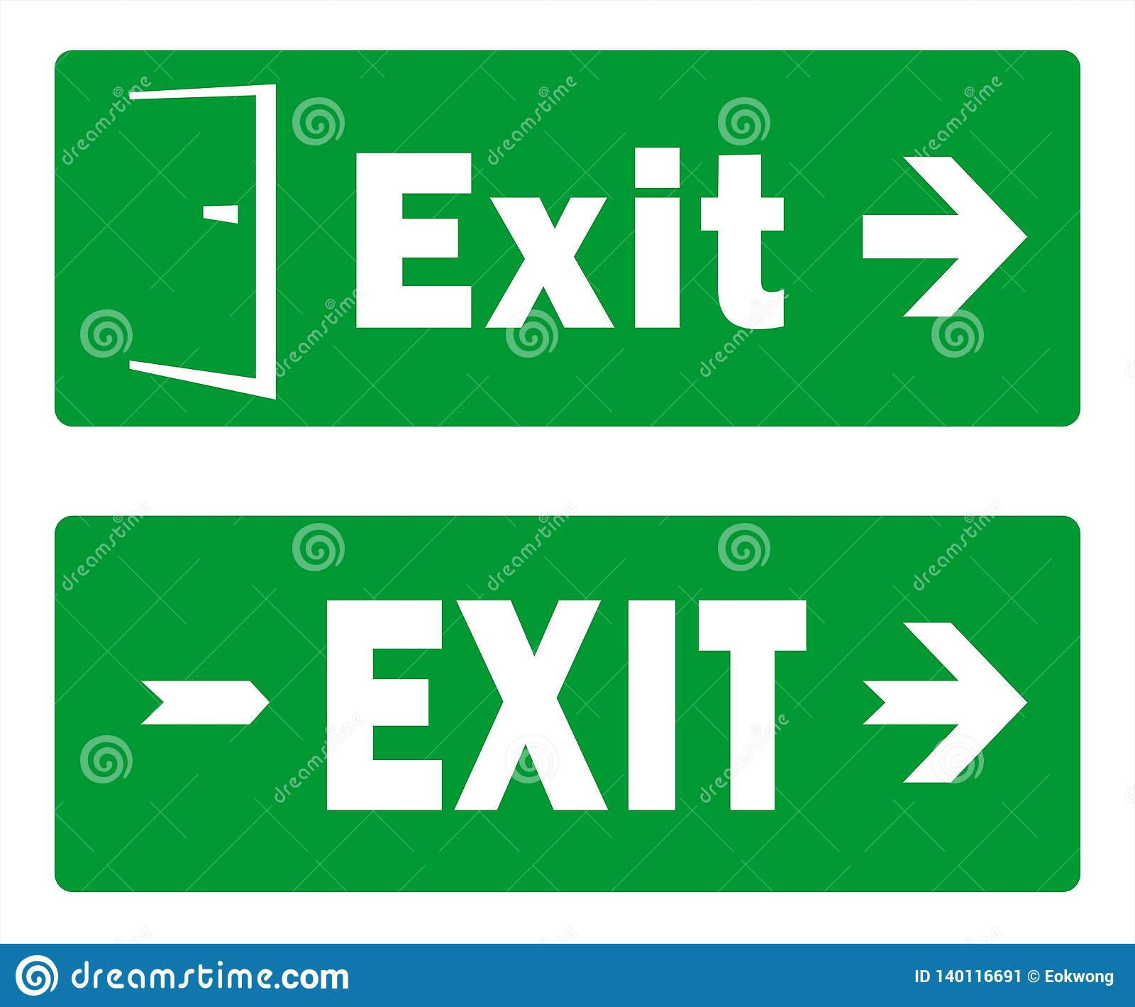 image relating to Printable Exit Signs titled Inexperienced Exit Signal Template Programs - Crisis Exit - Pack Of