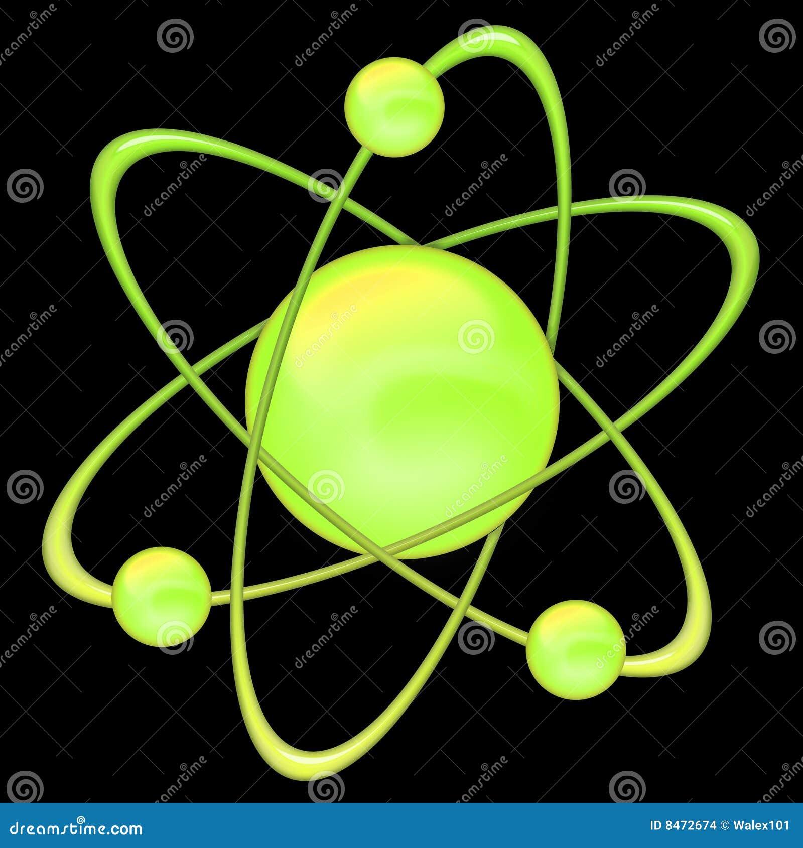 Green för atombakgrundsblack