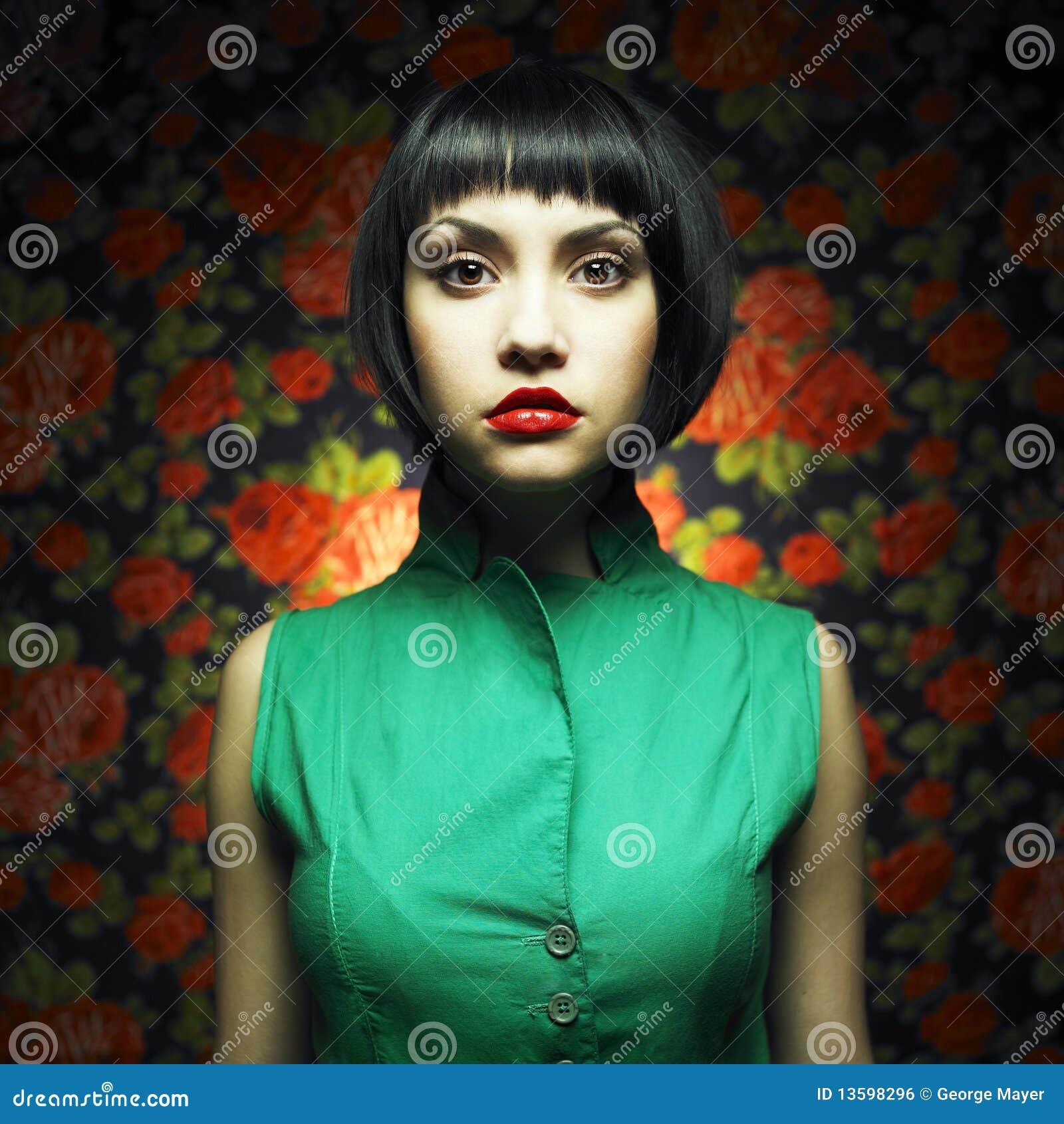 Green för dockaklänningflicka