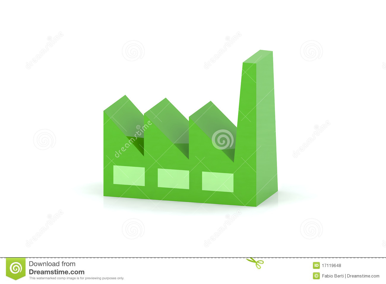 Green Factory Royalty Free Stock Photos - Image: 17119648