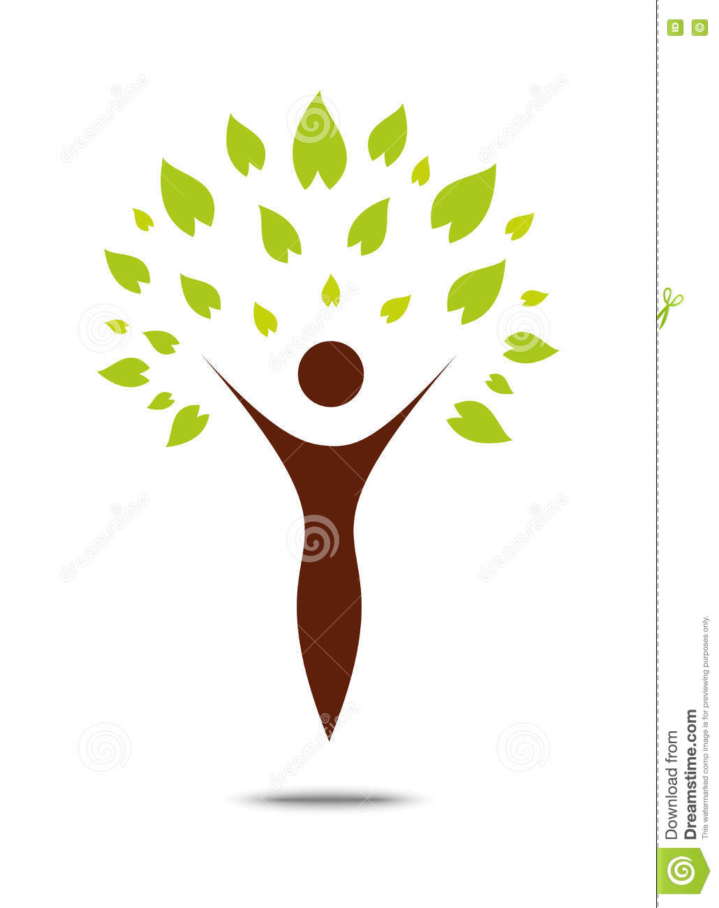 Green Family Tree Sign And Symbol Stock Vector Illustration Of