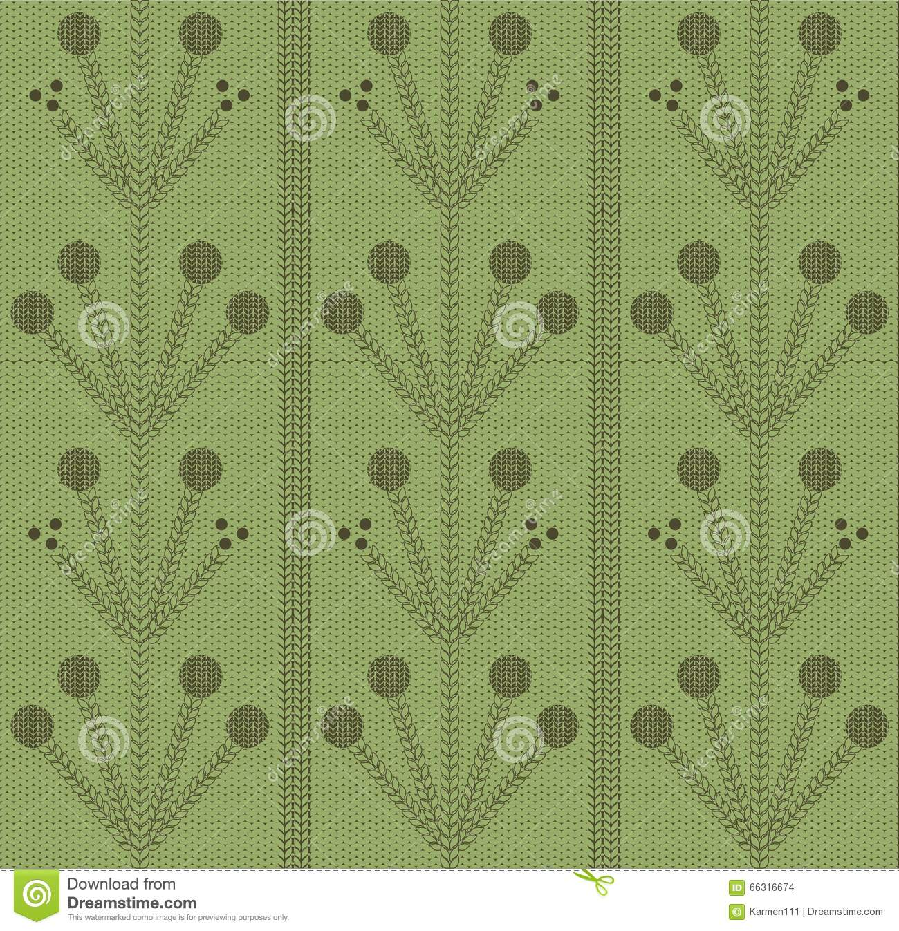 green fashion knitting pattern handmade textures stock vector