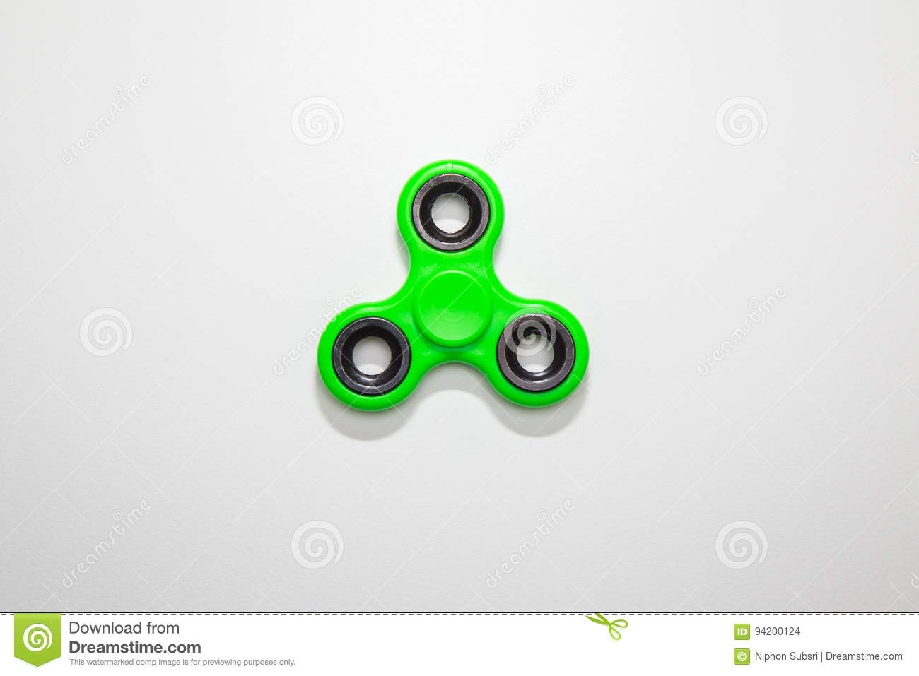 Green Fidget finger spinner toy image