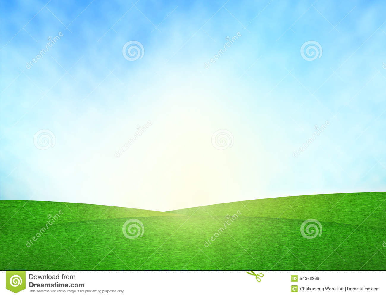 Royalty-Free Illustration. Download Green Field Blue Sky And Lighting ...  sc 1 st  Dreamstime.com & Green Field Blue Sky And Lighting Flare On Grass. Stock ... azcodes.com