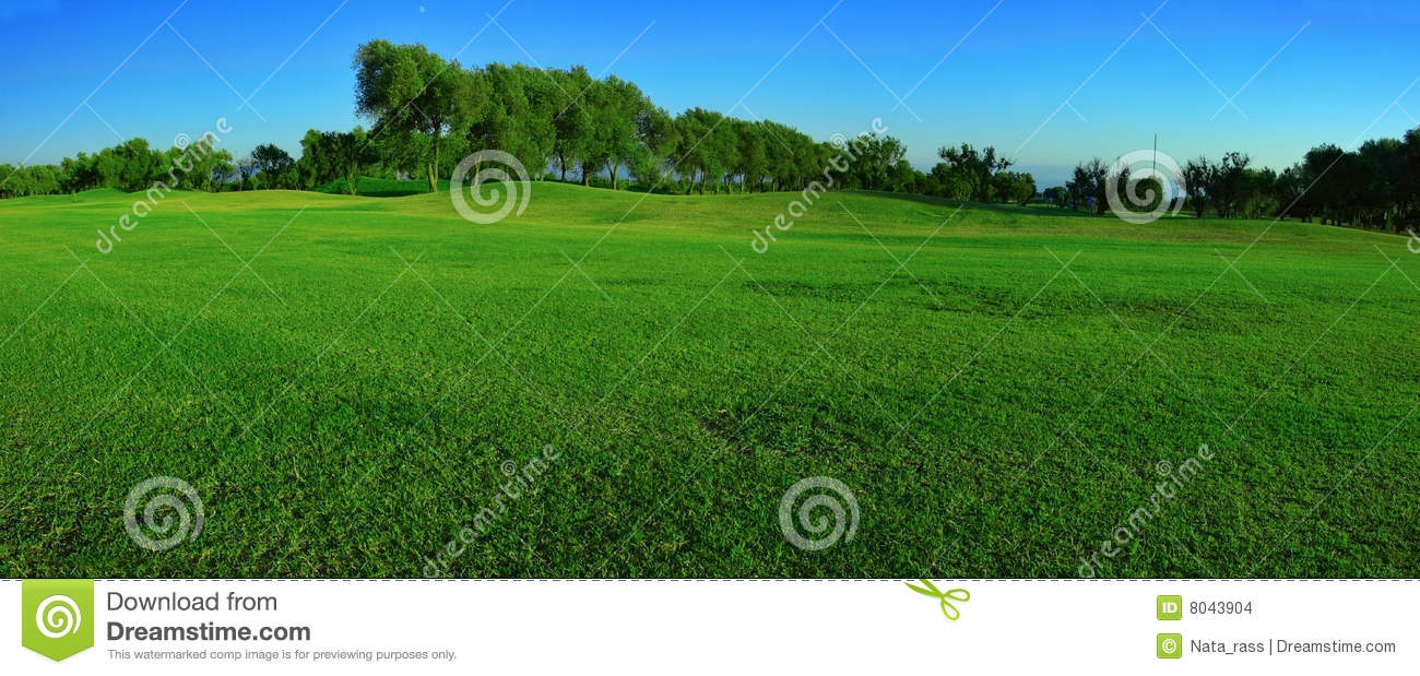 Green Field Panorama Stock Images - Image: 8043904
