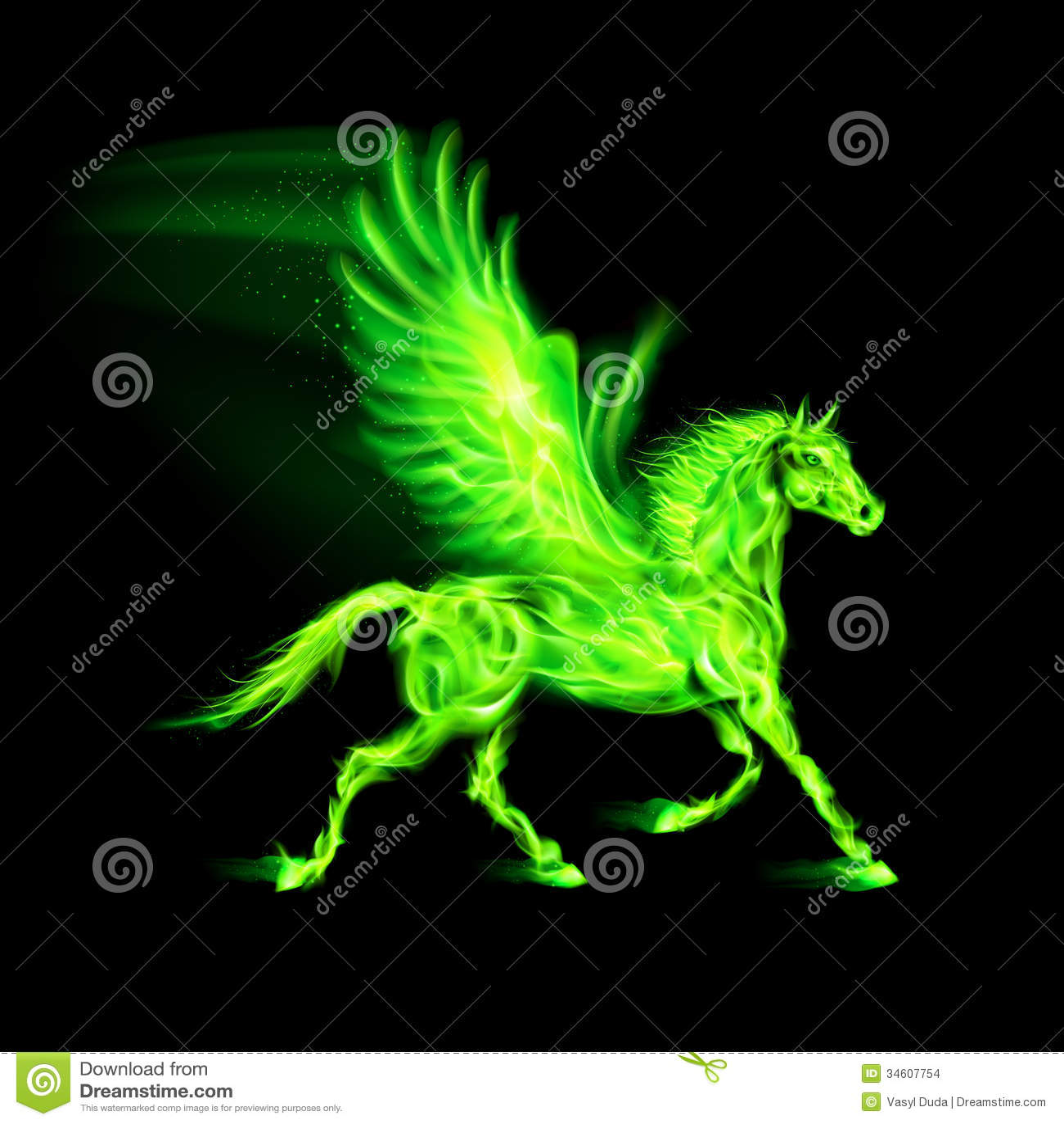Green Fire Wallpaper Background Green fire Pegasus