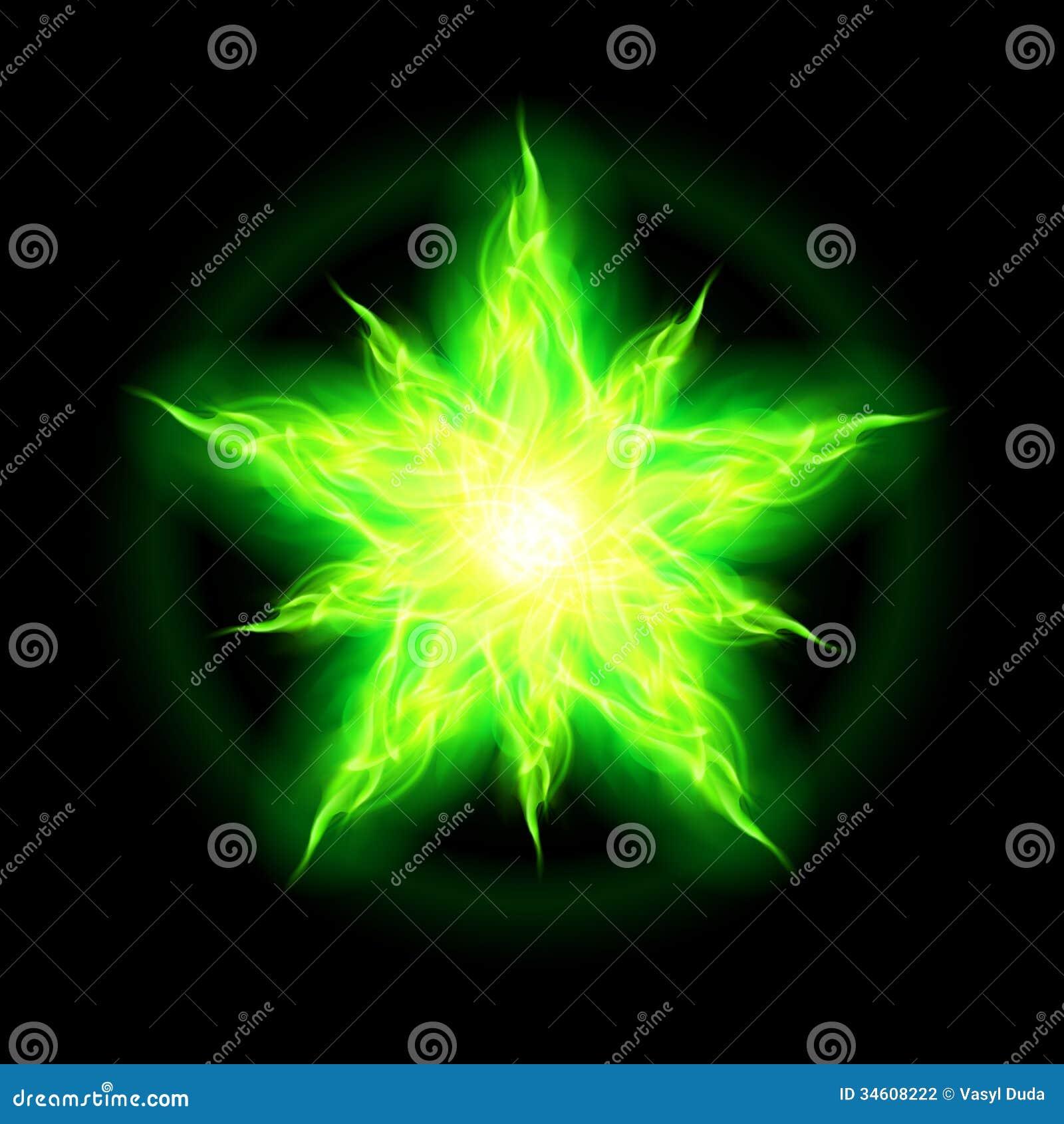 Green Fire Wallpaper Background Green fire star