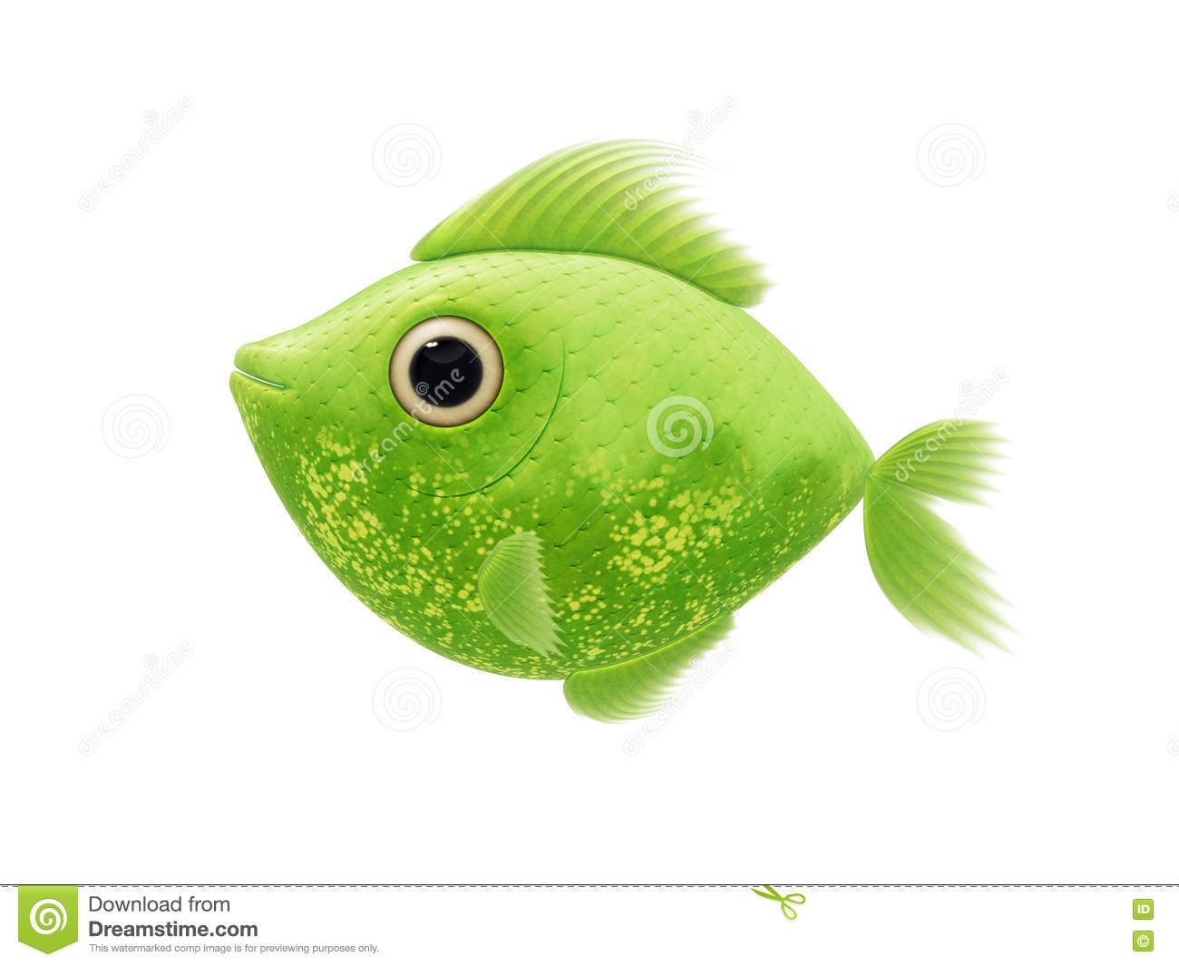 Green fish stock illustration. Illustration of fishing - 73140483