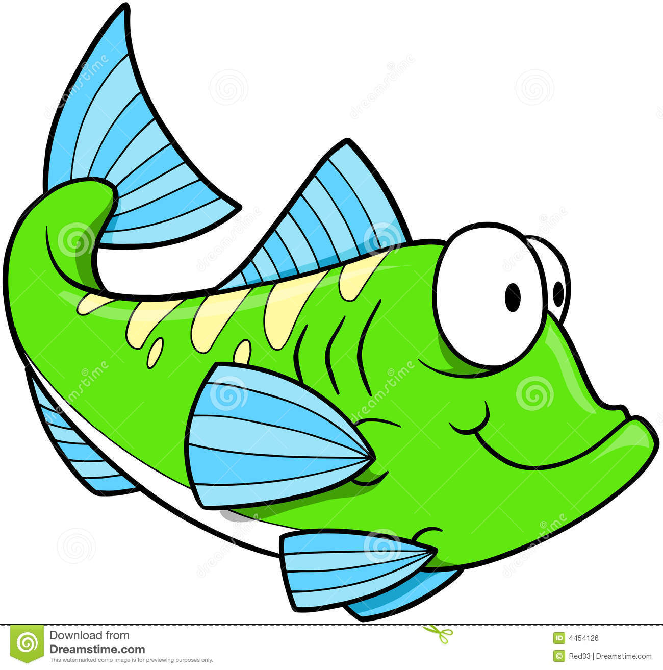 Green fish Vector stock illustration. Illustration of ...