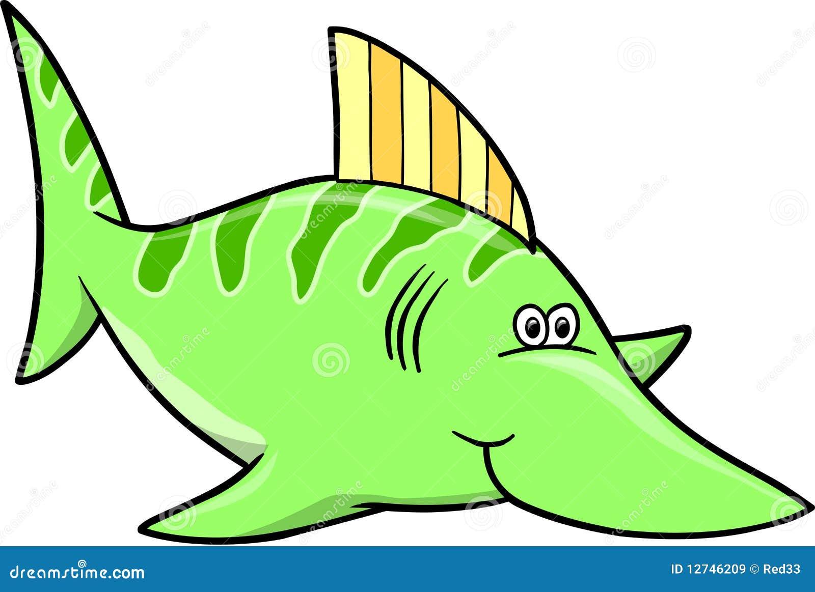 Green Fish Vector Illustration Stock Vector - Image: 12746209