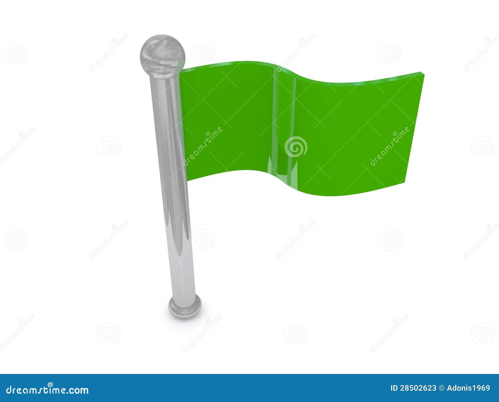 Green Flag Stock Photos - Image: 28502623