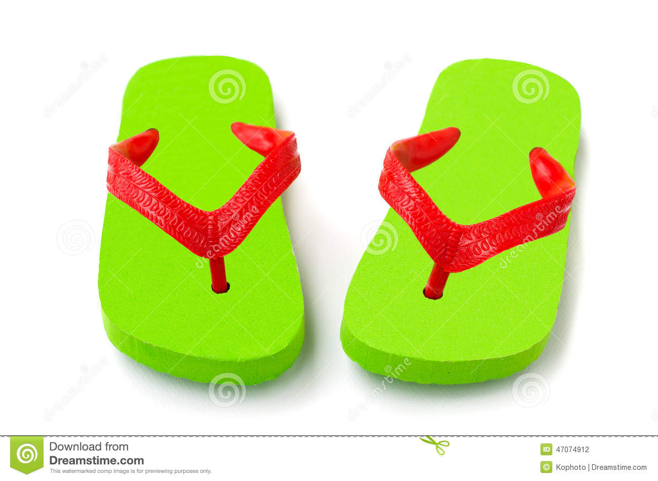 Green flip flop isolated