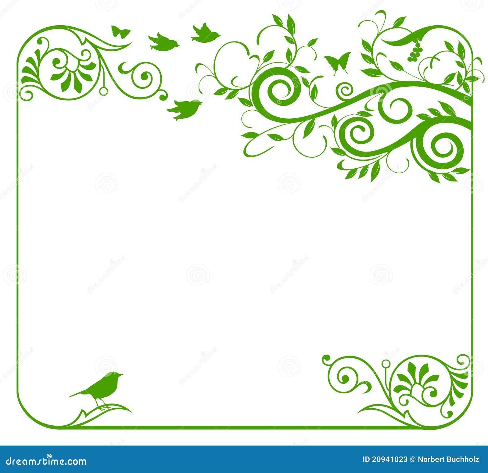 Green floral border stock vector illustration of ornamental 20941023 green floral border altavistaventures Images