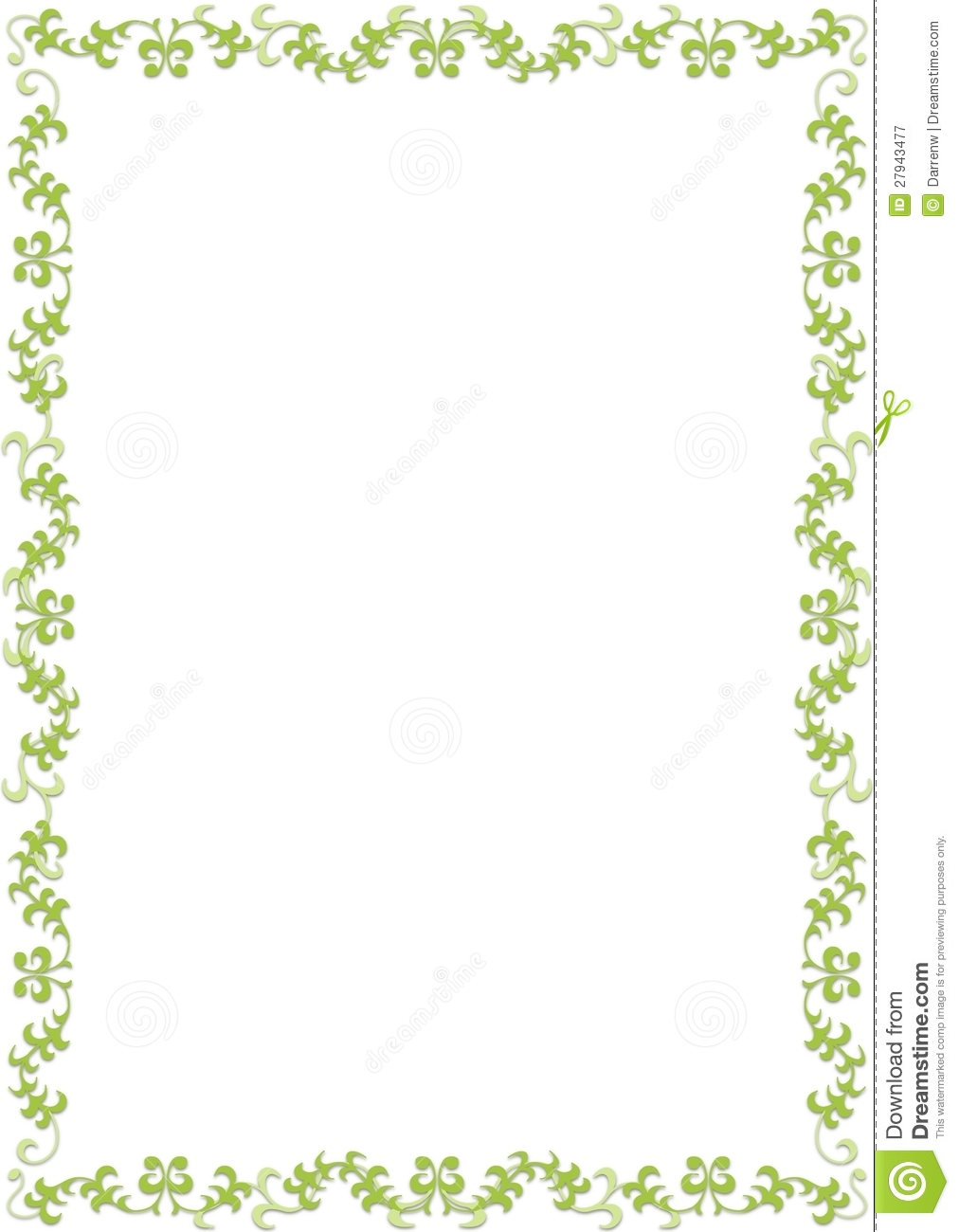 Green Floral Border Royalty Free Stock Photography Image